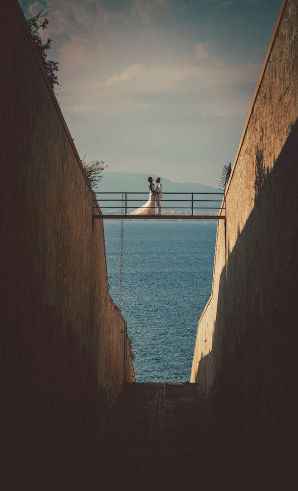 Hochzeitspaar Brücke